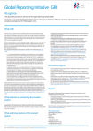 Global Reporting Initiative - At a Glance