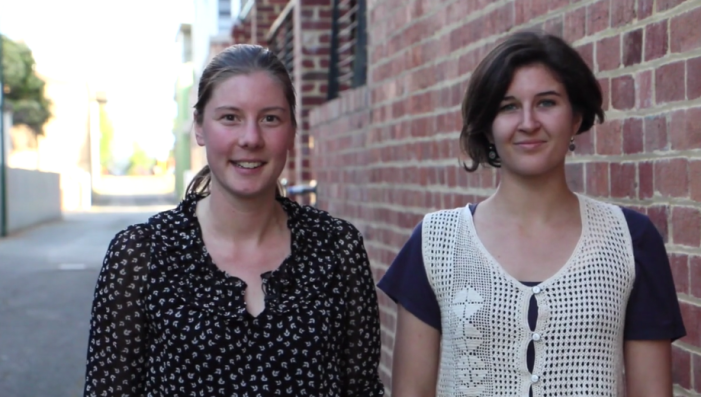 Rebecca & Angie...taking on the world of sustainable fashion