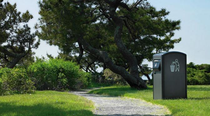 The world's most hi-tech bin is solar powered