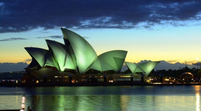Sydney Opera House sails away on green energy